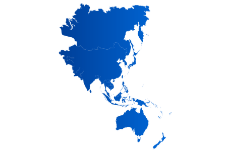 Asia vector pacific. Map image full hd