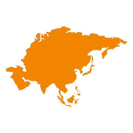 Asia vector map. Asian continental transparent png