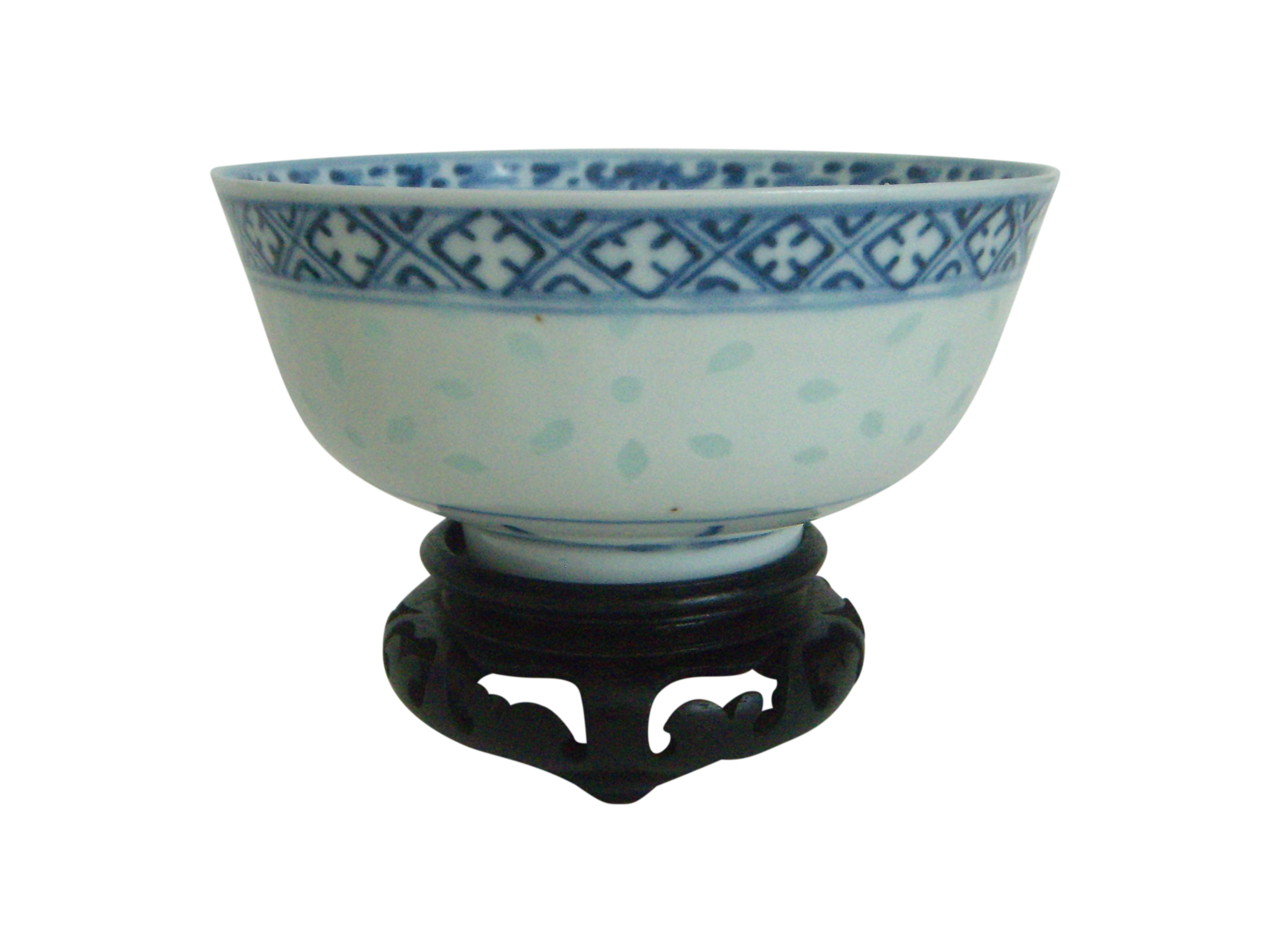 Asian bowl png. Blue white chinese rice