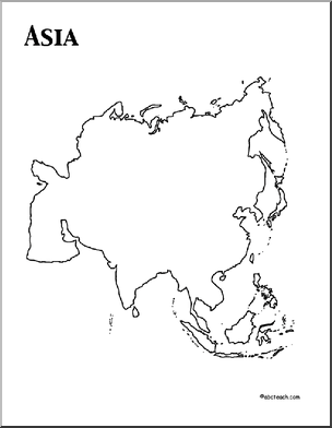 Asian clipart continent asia. Theme unit worksheets printables