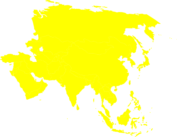 Asian clipart continent asia. Yellow clip art at