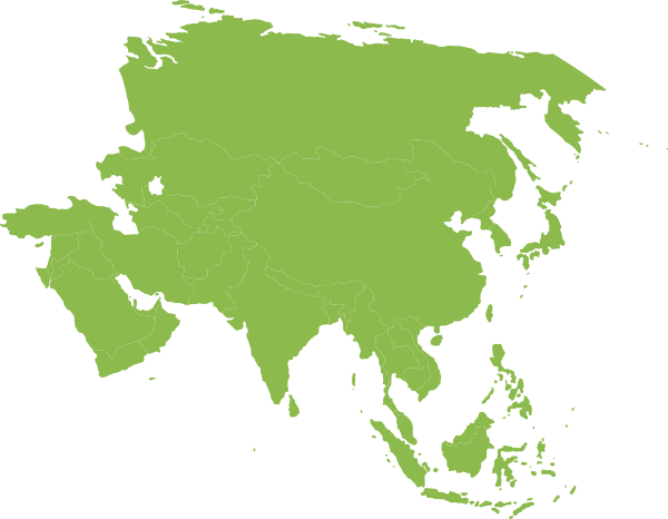 Asian clipart continent asia. Green clip art at