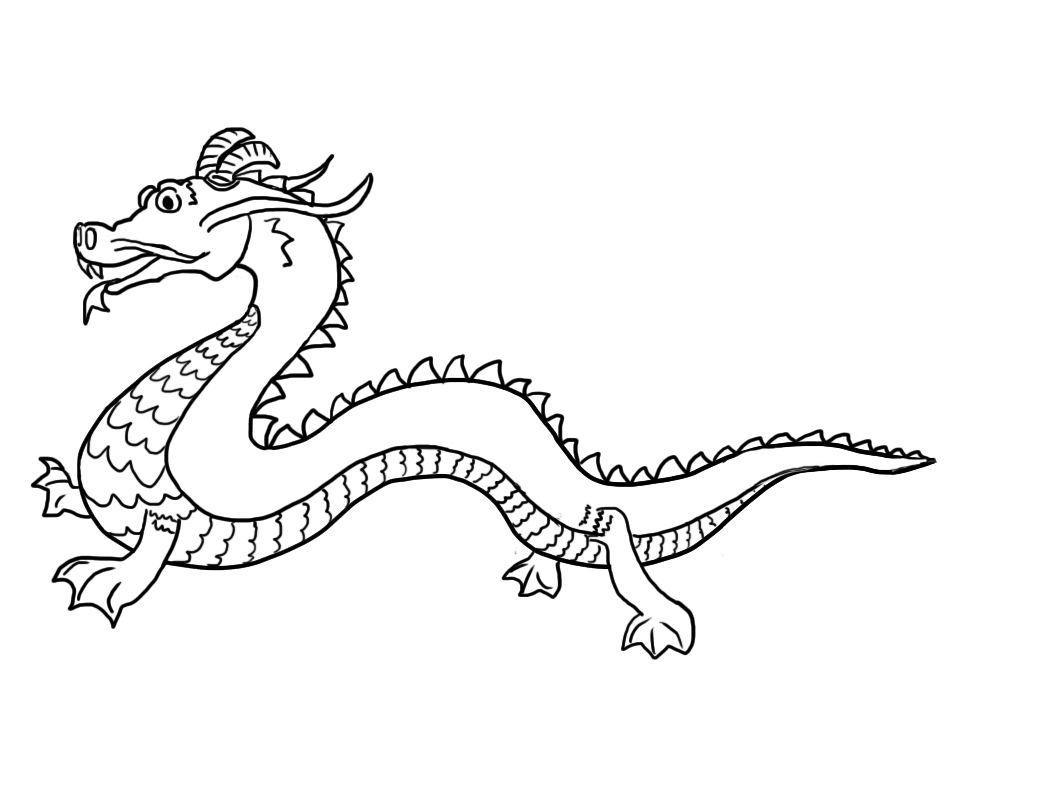 Asian clipart dragon chinese. Food drawing at getdrawings