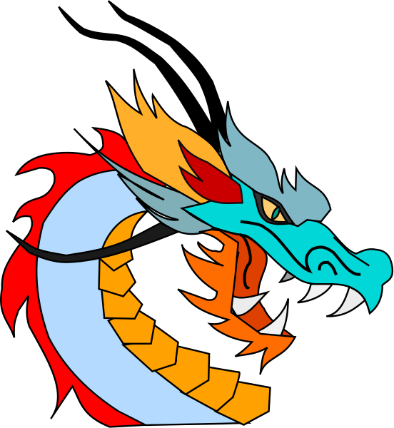 Asian clipart dragon chinese. Characters at getdrawings com