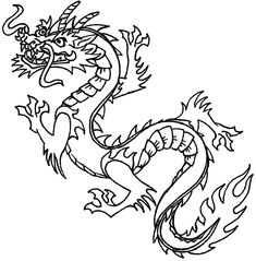 Asian clipart dragon chinese. Coloring page new year