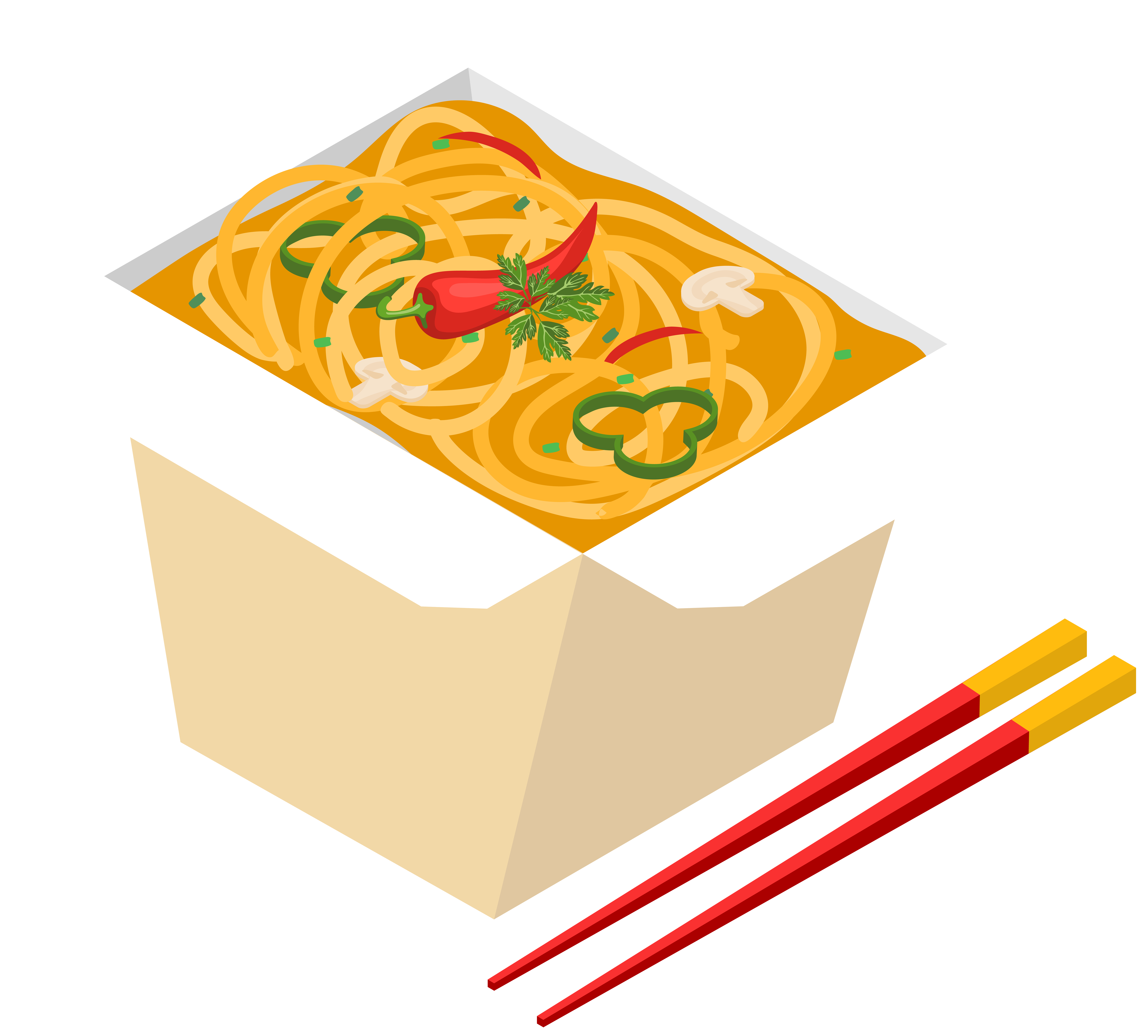 Food clip. Noodles drawing takeout