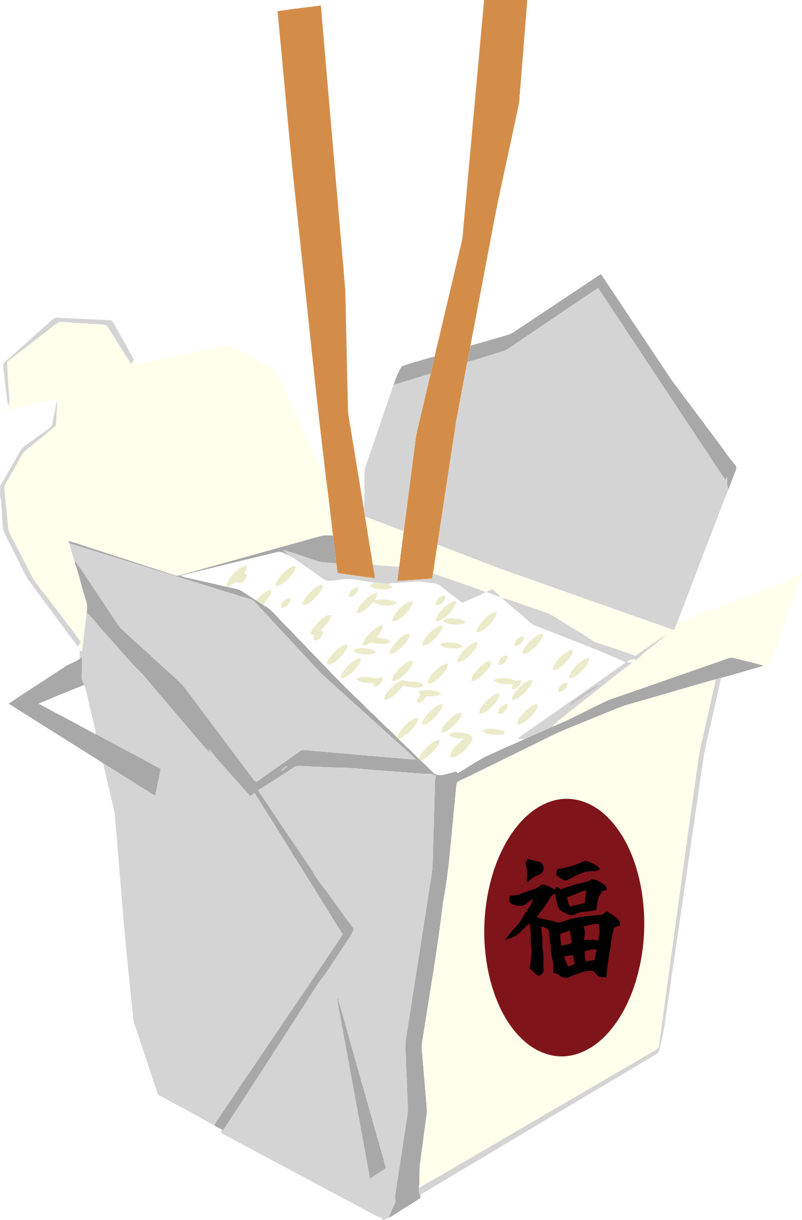 Asian clipart takeout chinese. Take out box big