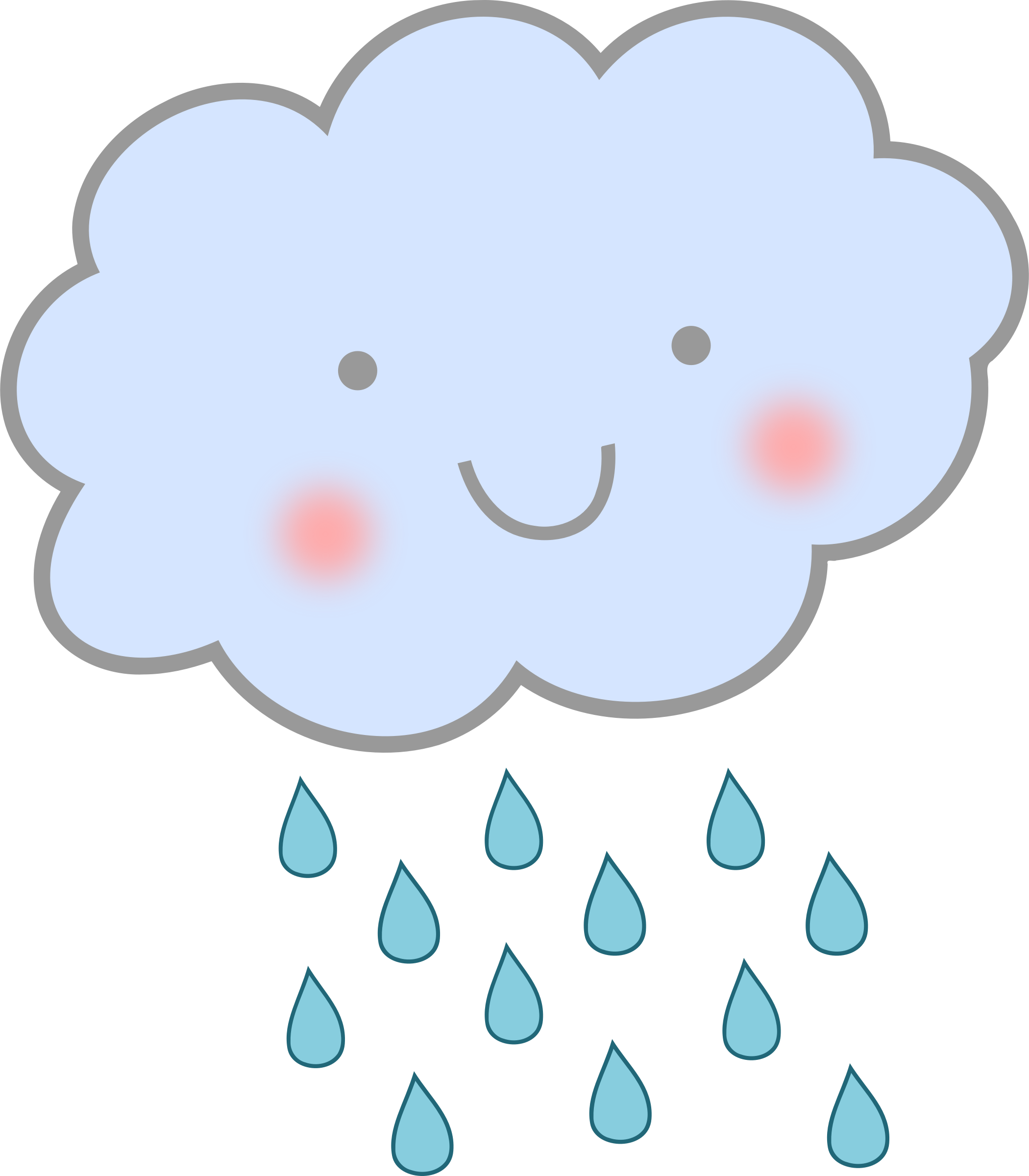 Asian clouds png. Cute rain cloud weather