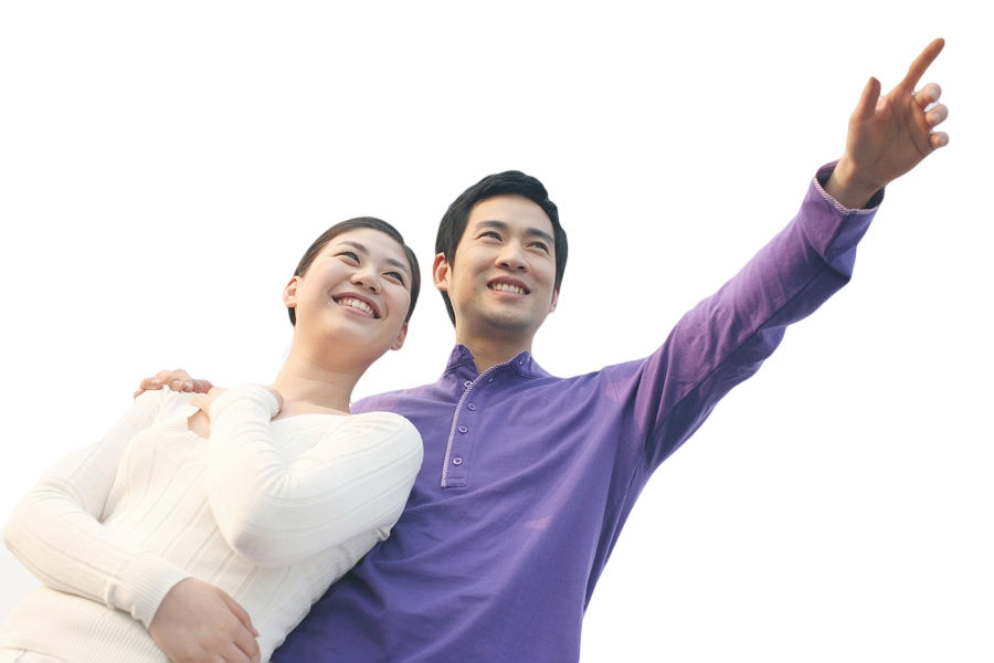 Asian couple png. Smile stock photography royalty