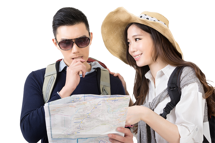 Asian couple png. Tour company inbound outbound