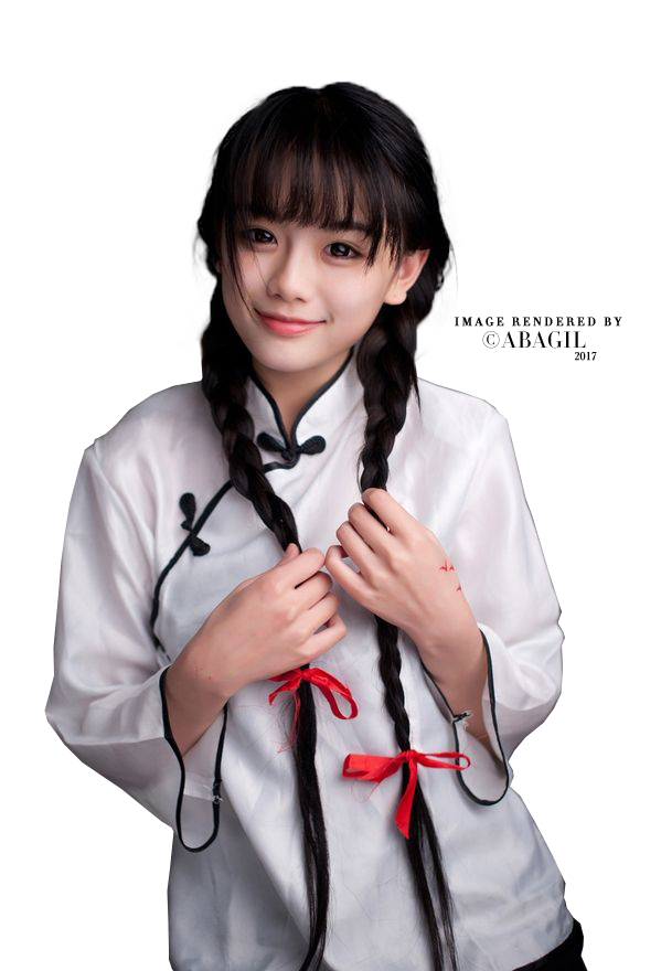 Asian girl png. Image by abagil on
