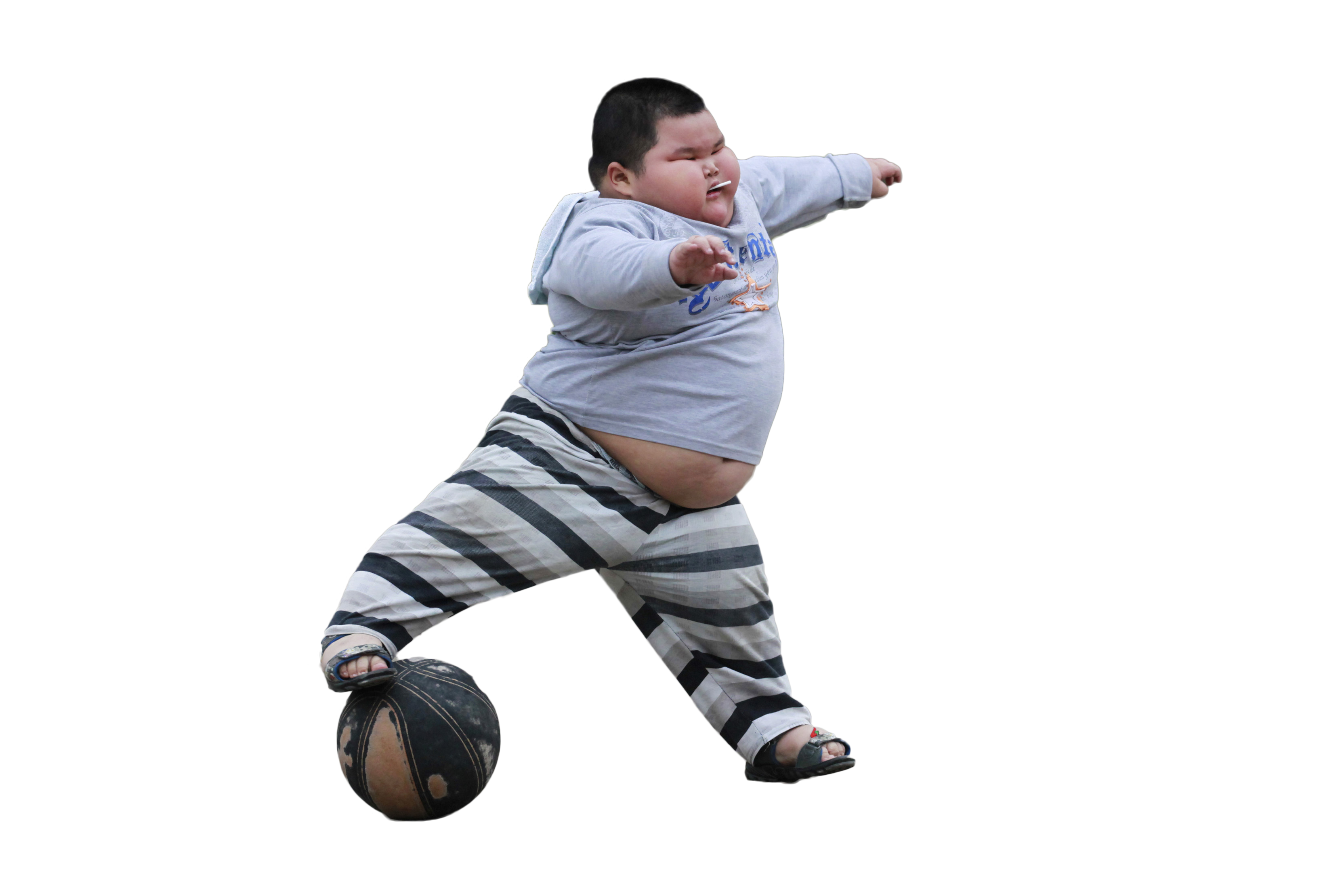 Asian kid png. Playing with ball cutouts