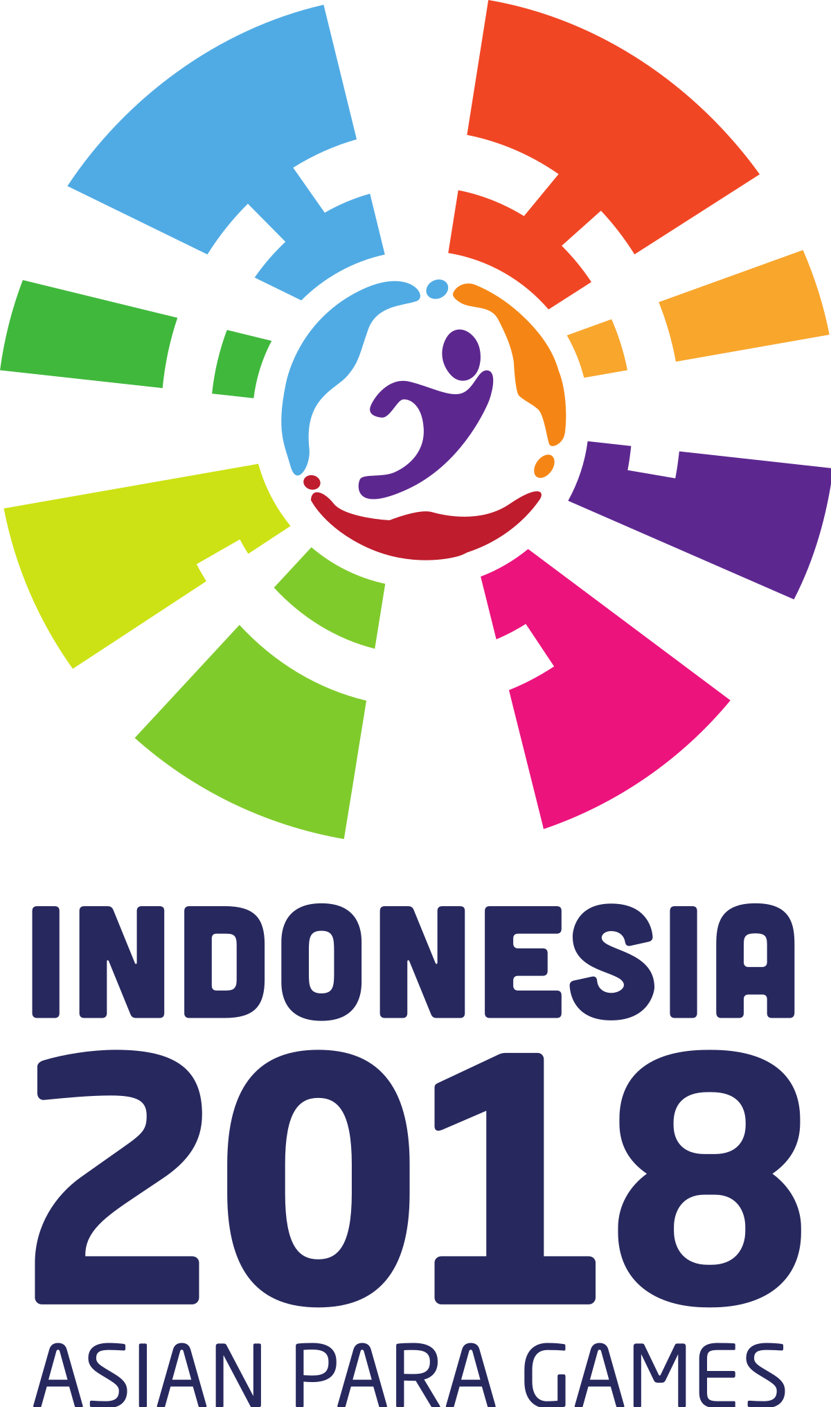 Indonesia vector poster. Asian para games