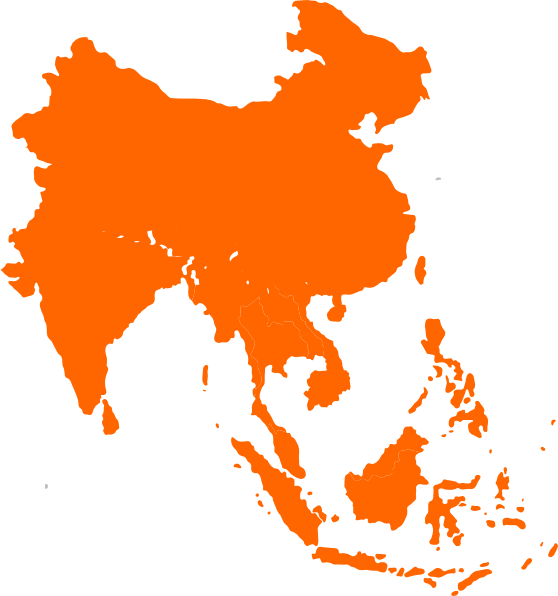 Asia vector map. Southeast clip art at