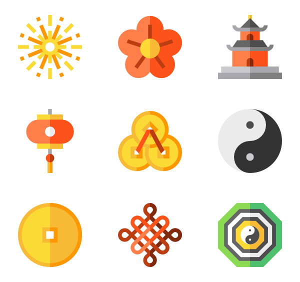 Asian vector. Chinese icons free