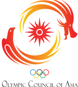 Asian vector abstract. Olympic council of asia