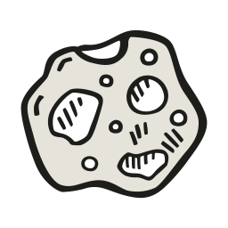 Cartoon asteroid png. Icon free space iconset