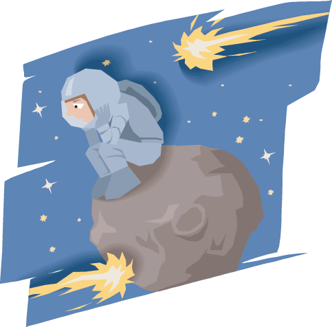 Comet clipart asteroid. Picture transparent library