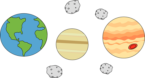 Asteroid clipart fire. Planets and asteroids clip