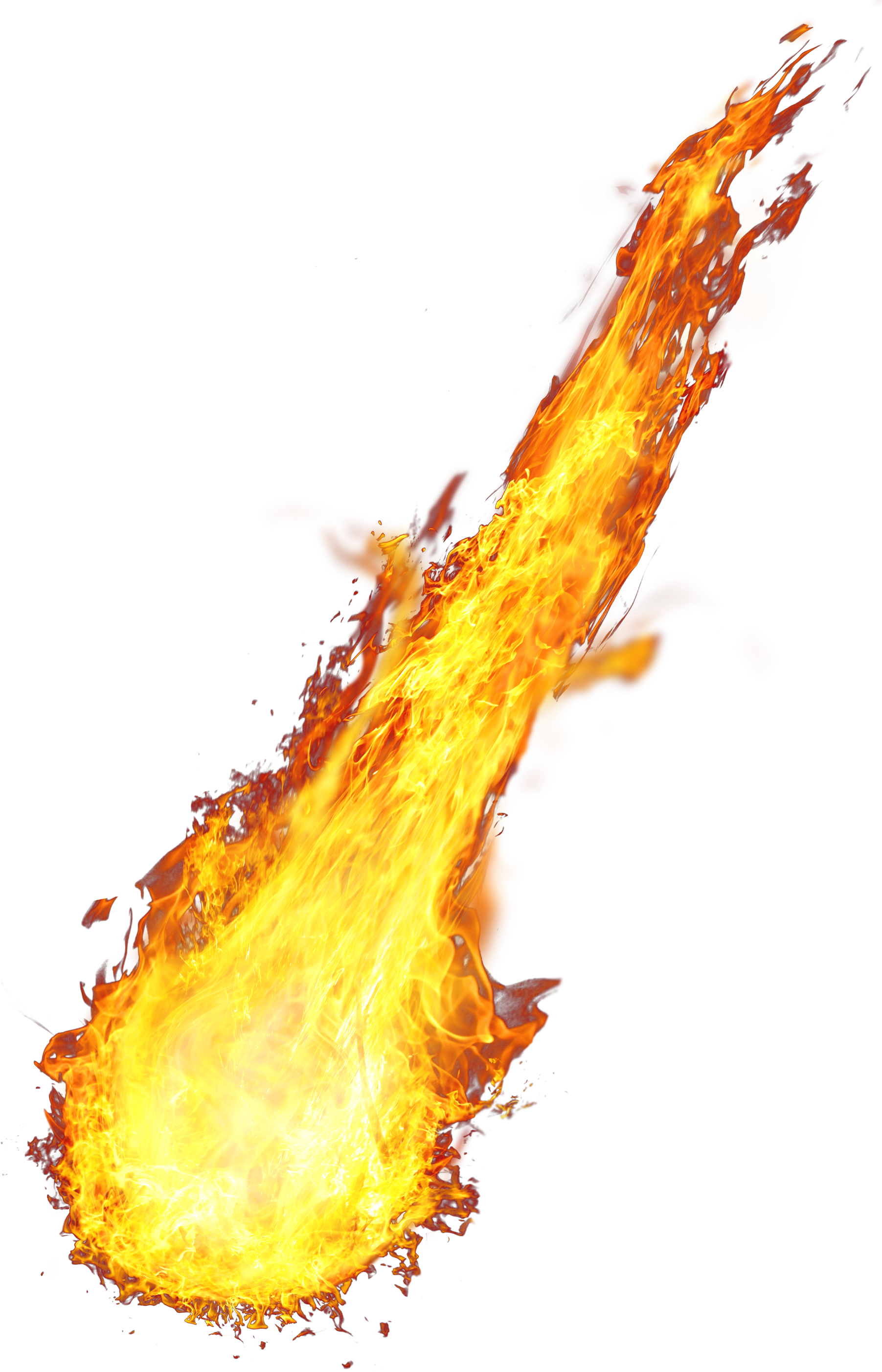 fireball clipart fire trail