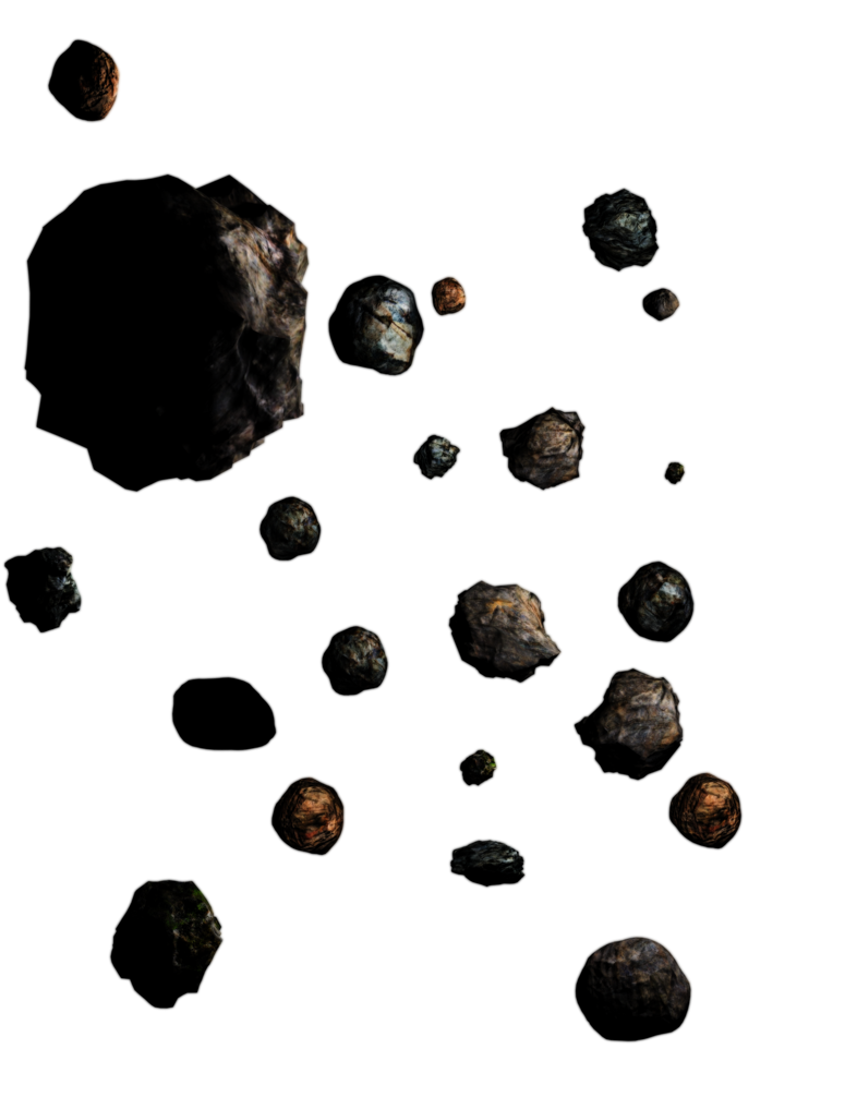 Asteroid field png. Belts mega pack by