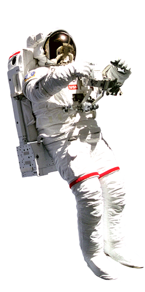 astronaut side view png