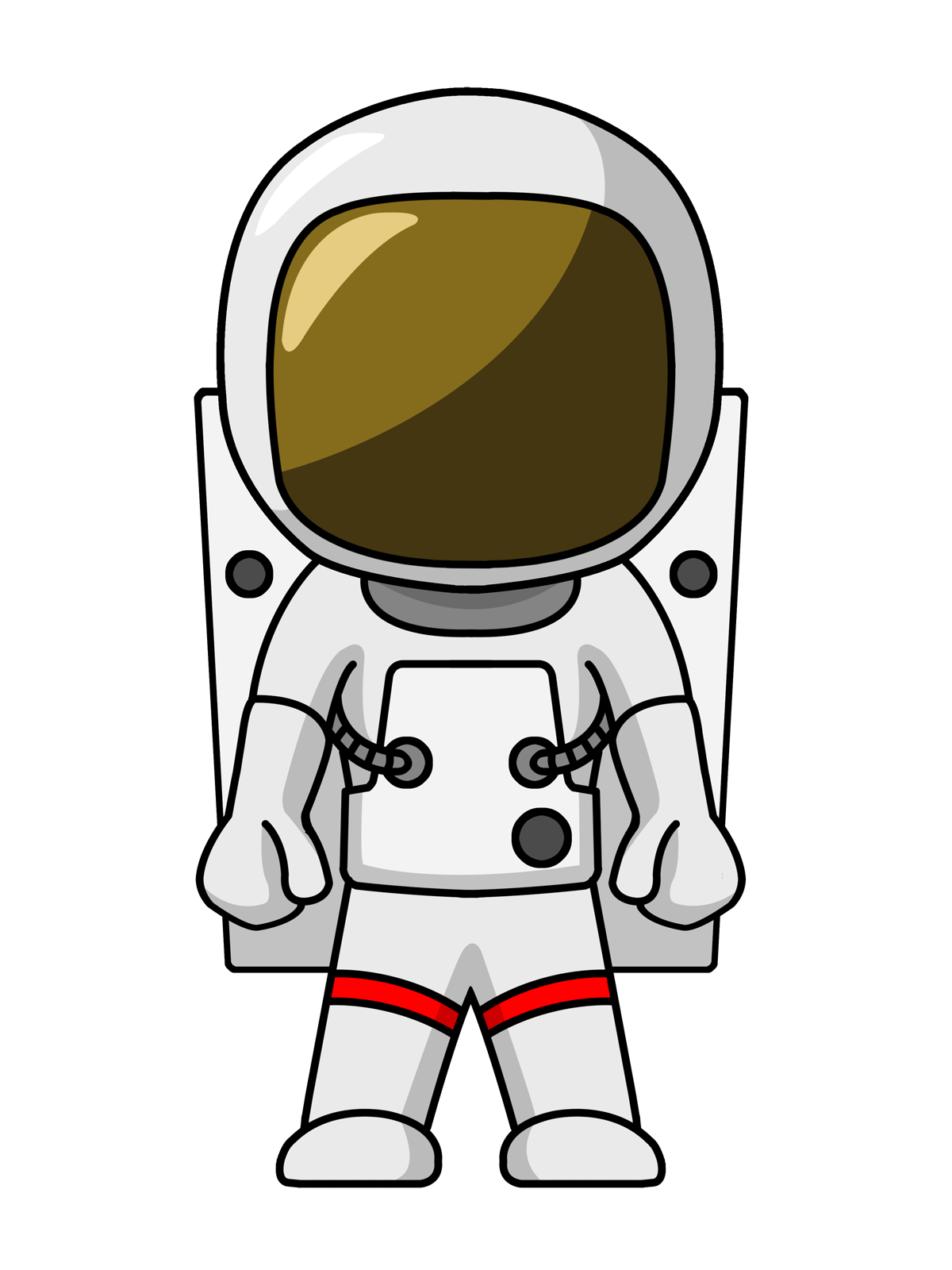 The vortex tunnel and. Astronaut clipart body picture