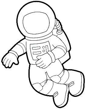 Printable templates vil g. Astronaut clipart body clipart freeuse stock