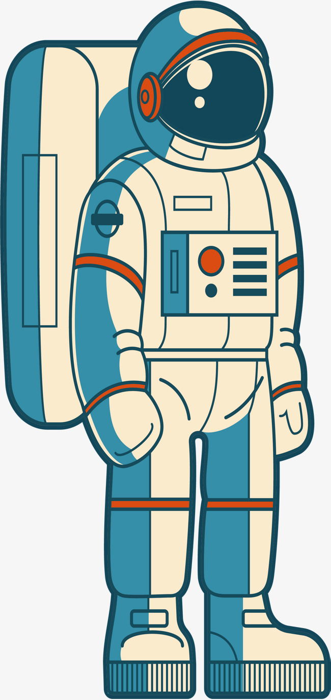 Space astronauts vector png. Astronaut clipart body clip art black and white stock