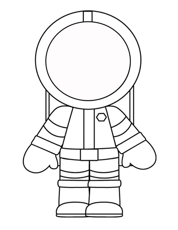 Astronaut clipart easy. Printable template for the