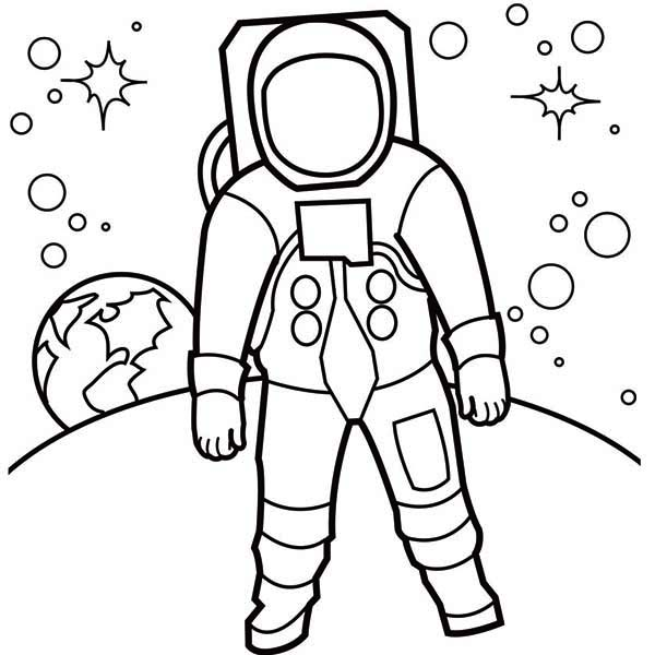 Astronaut clipart easy. Simple drawing at getdrawings