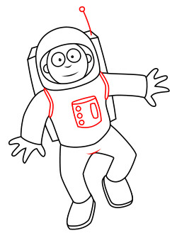 Astronaut Easy Draw Transparent Png Clipart Free Download Ya