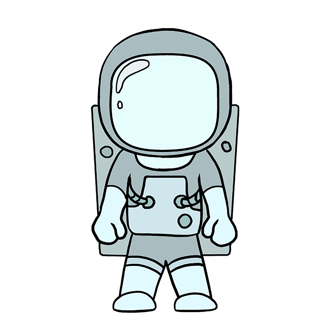 Astronaut clipart easy draw. How to an really