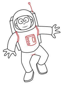 astronaut clipart easy draw