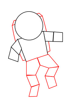 Astronaut clipart easy draw. Drawing a cartoon