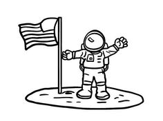 Astronaut clipart easy draw. Drawing a cartoon pinterest
