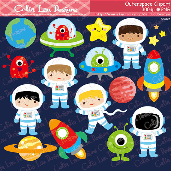 Astronaut clipart planet. Outer space boy astronauts