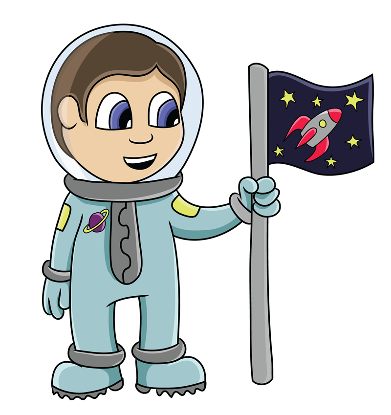 Astronaut clipart. In space