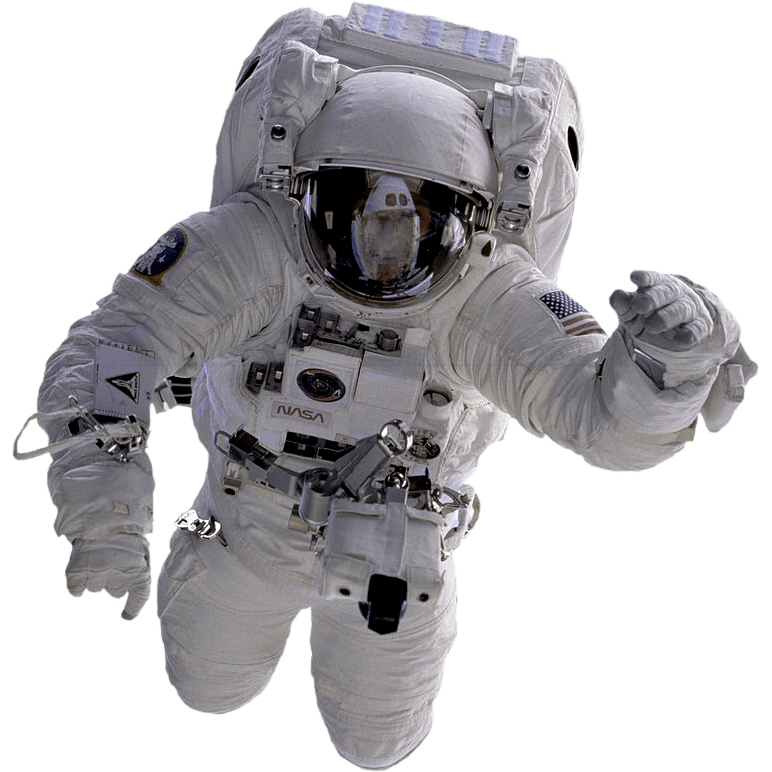 Astronaut png. Flying transparent stickpng