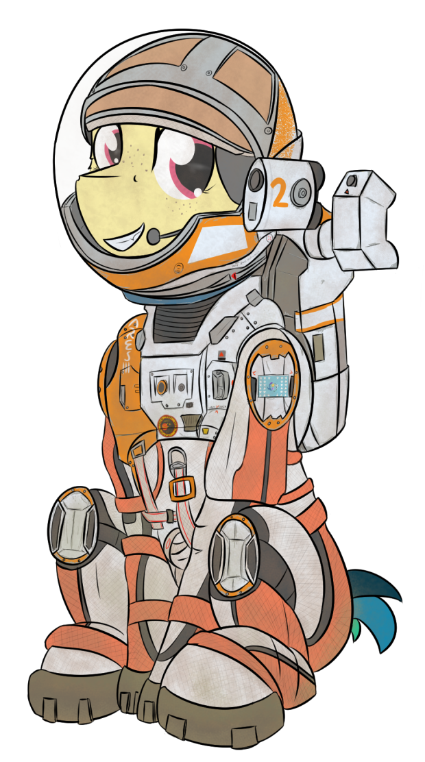 Astronaut png mars. Ares artist kamithepony