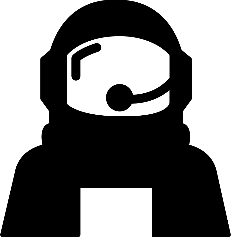 Astronaut silhouette png. Helmet protection for outer