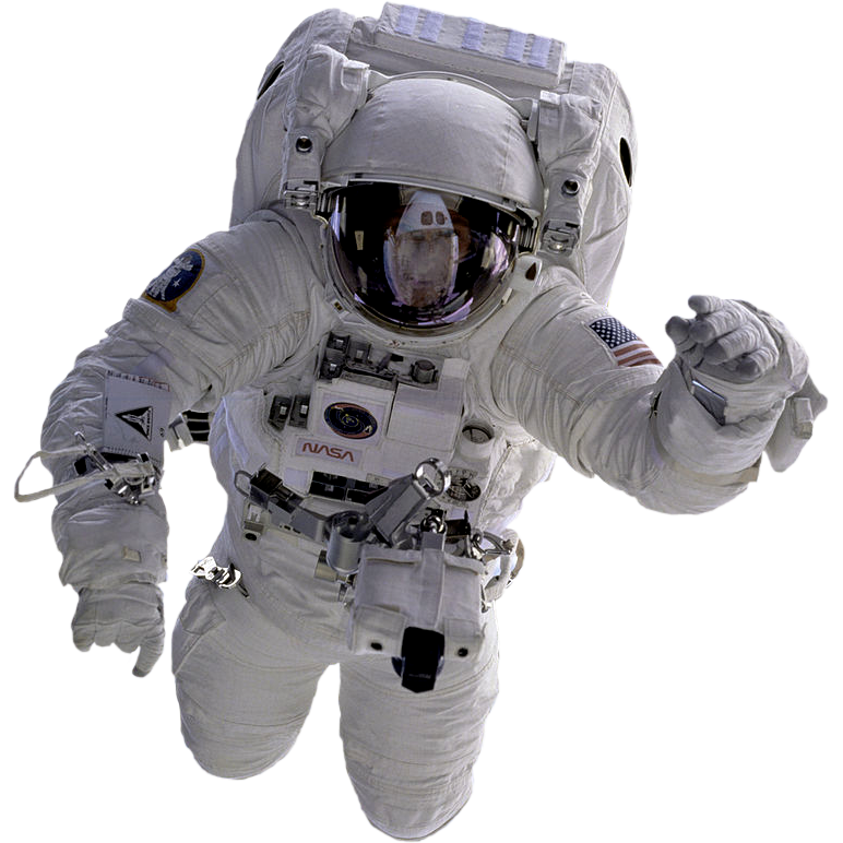 Spaceman falling png. Astronaut by nasa cropped