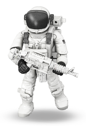 Astronaut with gun png.