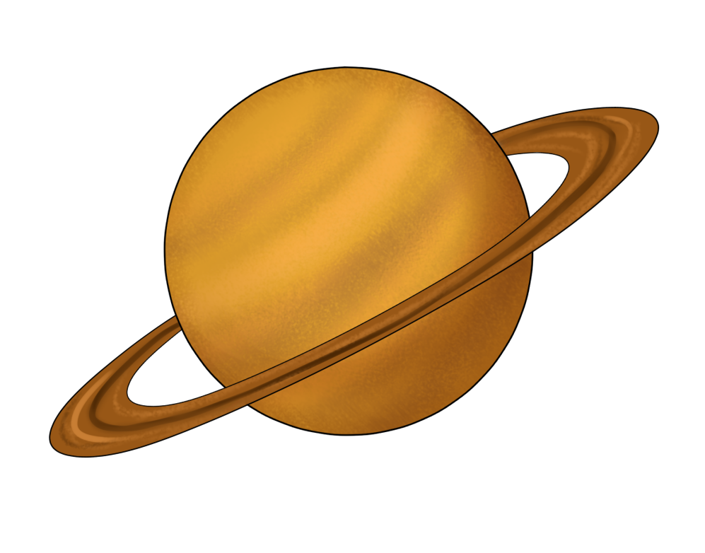 Transparent saturn printable
