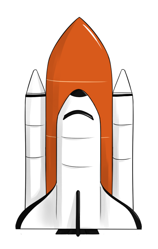 rocketship clipart space shuttle