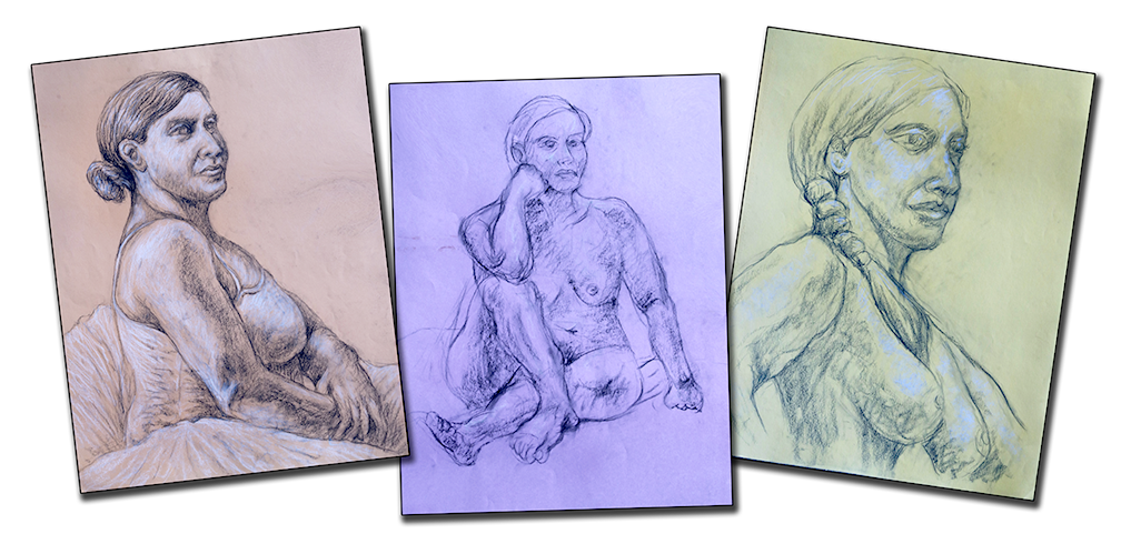 Portraits drawing model. My artistic expressions picture