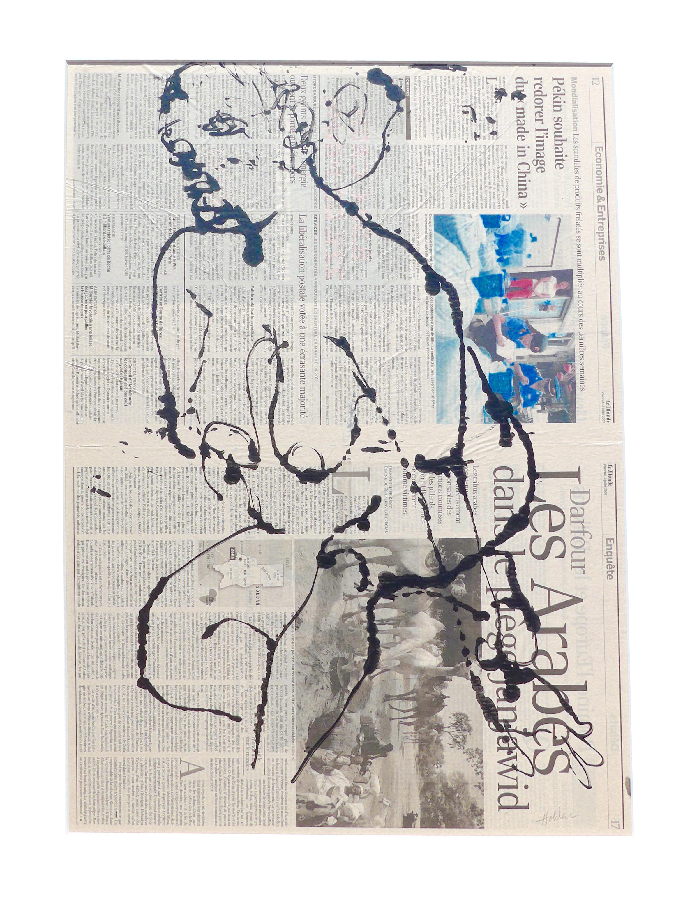 French drawing ink. Model by martha holden
