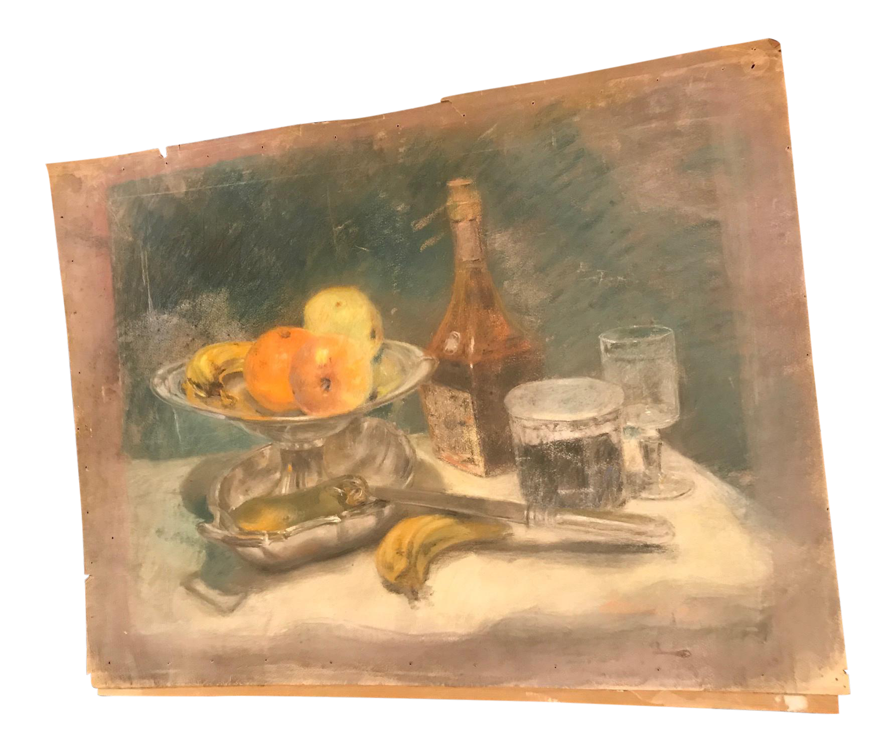 Atelier drawing still life. French pastel chairish