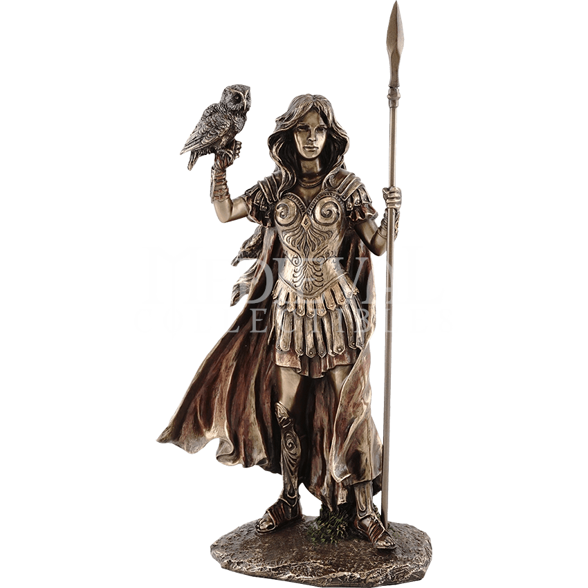 Athena statue png. With owl tl by