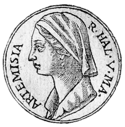 Athens drawing antiquities. Artemisia i of caria